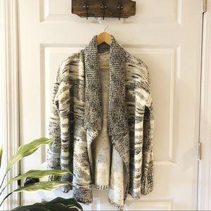 Lou & Grey | Tribal Grey White Knitted Cardigan